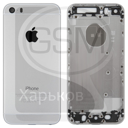 Корпус Apple iPhone 5S, белый, имитация iPhone 6, (качество AAA), (панель, панели)