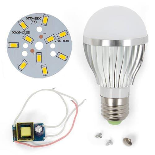 как собрать лампу на светодиодах
